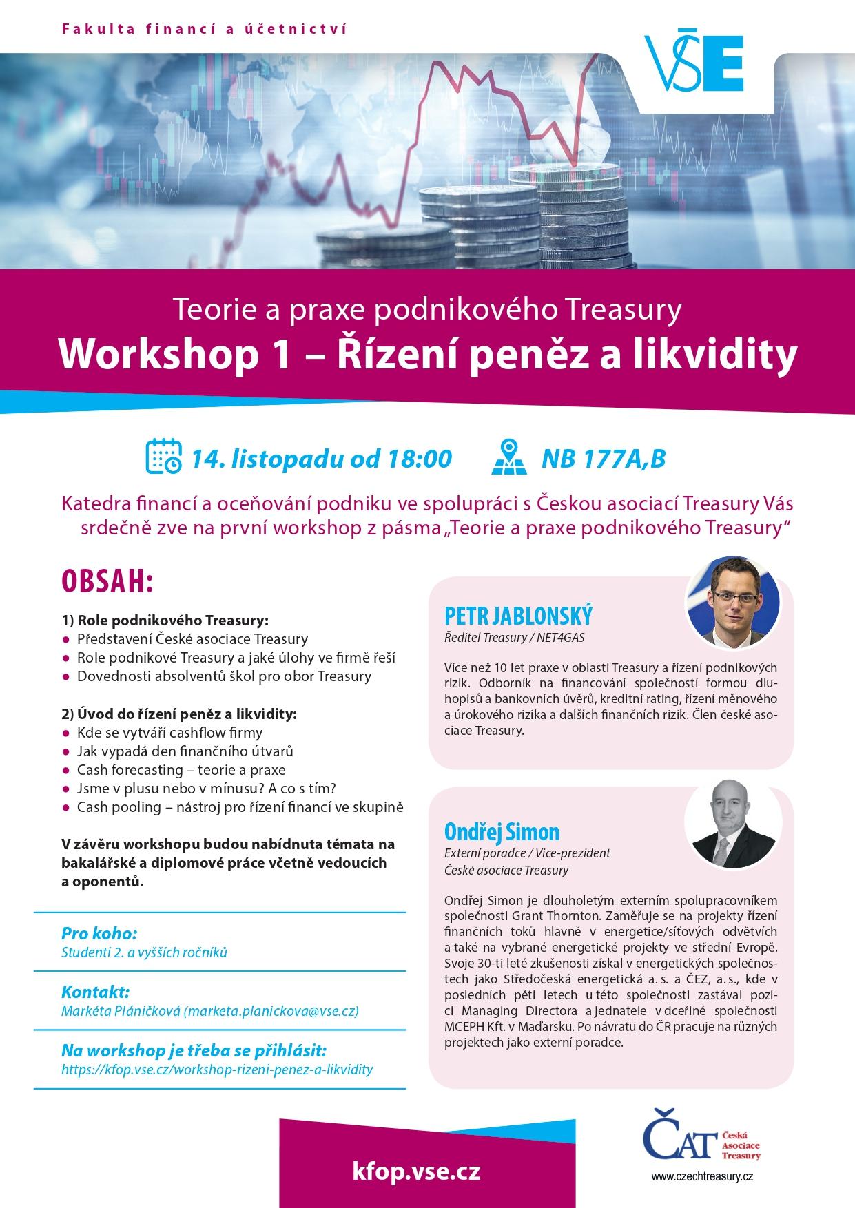 Workshop – Řízení peněz a likvidity