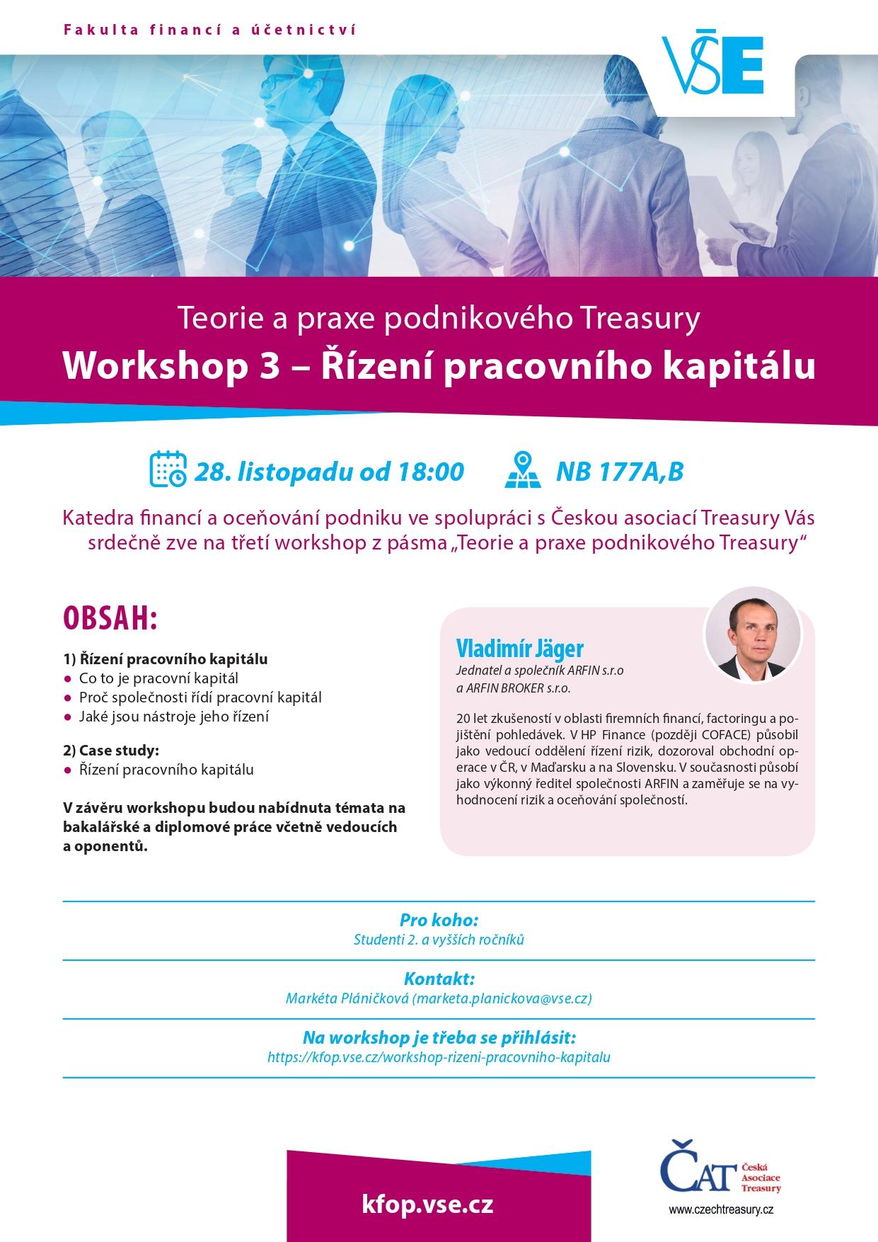 Workshop – Řízení pracovního kapitálu